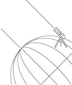 Het uitlijnen van de telescoop met de pool spacepage - De goede hoek tele ...