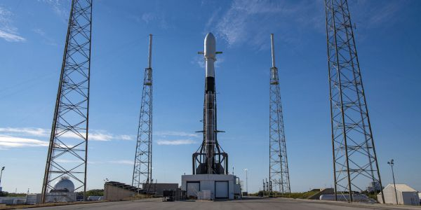 De Falcon 9 raket van SpaceX.
