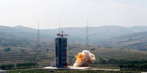 Lancering van een Chinese CZ-4C raket vanop het Taiyuan Satellite Launch Center